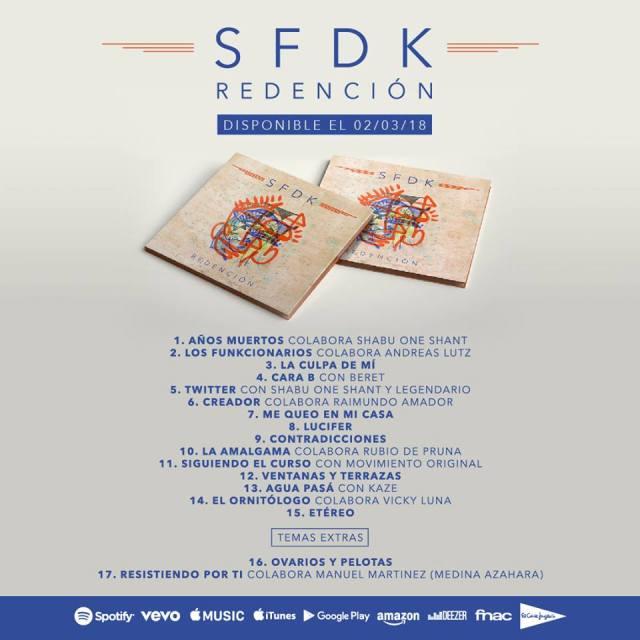 Tracklist-Redención-Nuevo-Disco-SFDK-2018-El-V-Elemento