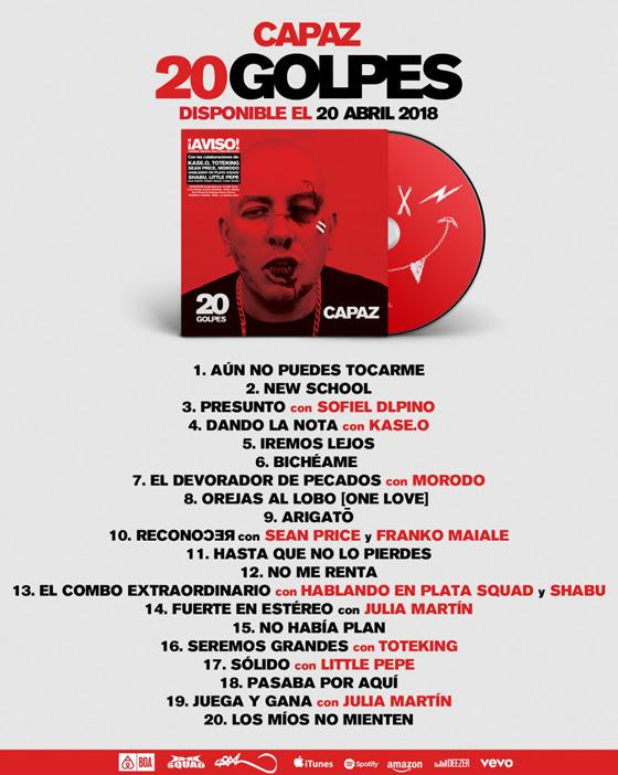 Tracklist-20-Golpes-Capaz-Nuevo-Disco-El-V-Elemento